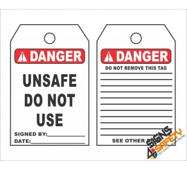 (ST11) Danger Do Not Use Scaffolding Safety Tag