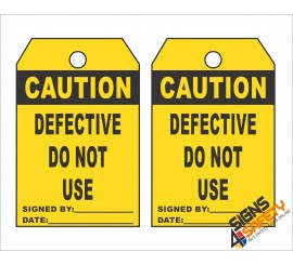 (ST12) Caution Scaffolding Defective Do Not Use Safety Tag