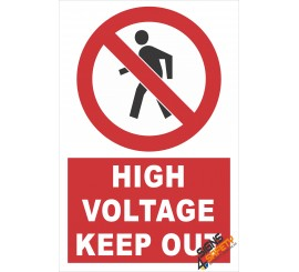 (PE1) High Voltage Keep Out Electrical Sign