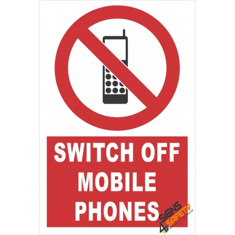 (PE4) Switch Off Mobile Phones / Electrical Sign