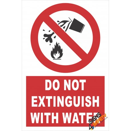(PE9) Do Not Extinguish With Water / Electrical Sign