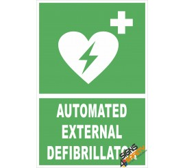 (FE3) Automated External Defibrillator / First Aid Sign
