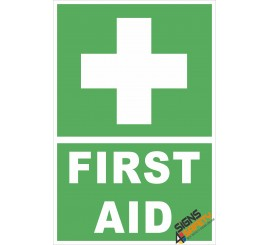 (FE4)  First Aid Sign
