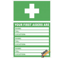 (FE6) Locate Your First Aider / First Aid Sign