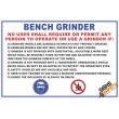 (FM1) Bench Grinder Safety Rules Sign