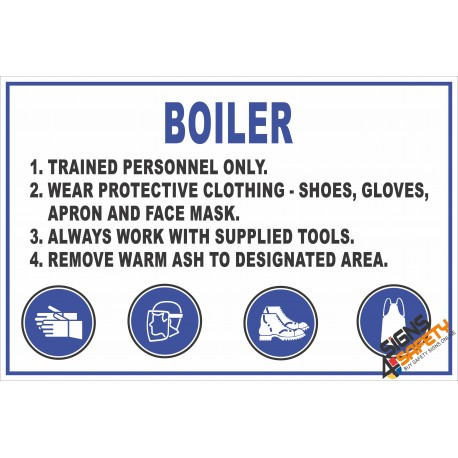 (FM5) Boiler Safety Rules Sign