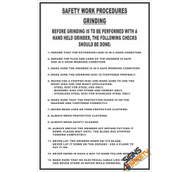 (FM11) Grinding Safety Procedure Sign