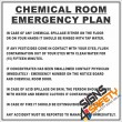 (FM13) Chemical Room Emergency Plan Sign