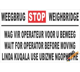 (FM14) Weighbridge Safety Sign