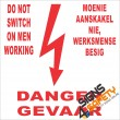 (FM21) Danger Do Not Switch On Men Working Safety Sign