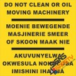 (FM29) Do Not Clean Or Oil Moving Machinery Safety Sign
