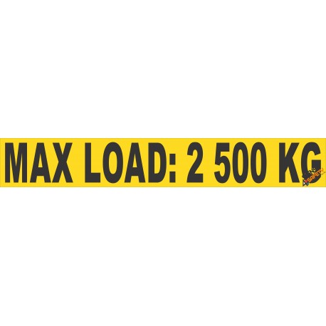 (FM44) Maximum Load Sticker 2500kg