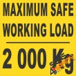 (FM45) Maximum Safe Working Load Sticker