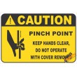 (FM49) Caution Pinch Point Safety Sign
