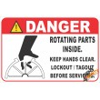 (FM50) Danger / Rotating Parts Safety Sign