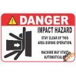 (FM51) Danger / Impact Hazard Safety Sign