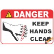 (FM52) Danger / Keep Hands Clear Safety Sign