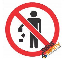 (PR5) No Littering Sign