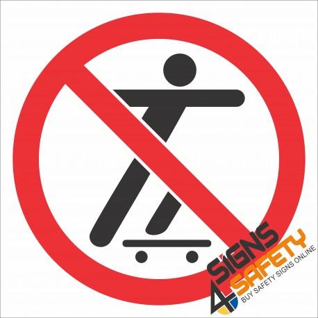 (PR21) No Skate Boarding Sign