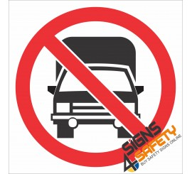 (PR27) No Trucks Sign