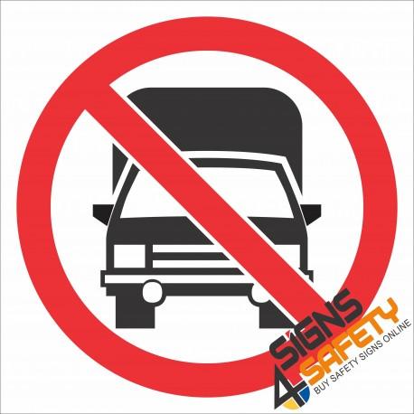 (PR27) No Trucks Sign