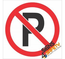 (PR40) No Parking Sign