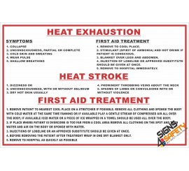 (FA1) Heat Exhaustion / Heat Stroke & Treatment First Aid Sign
