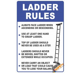 Ladder Safety Rules Sign