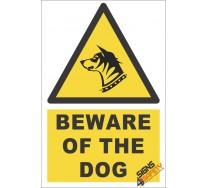 Beware Of The Dog Warning Sign