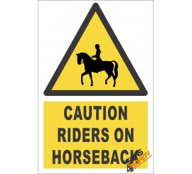 Riders On Horseback Caution Sign