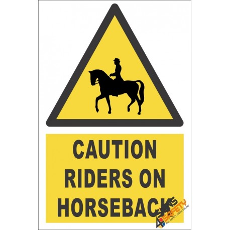 Riders On Horseback Caution Sign