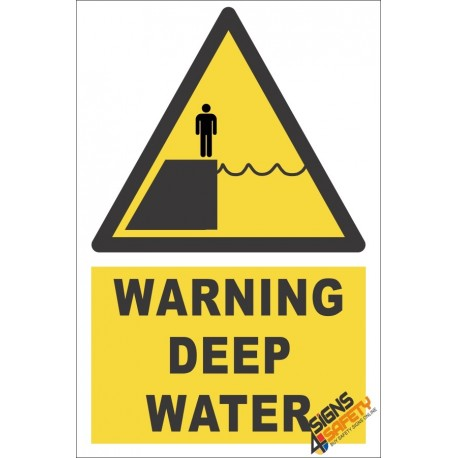 Deep Water Warning Sign