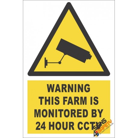 CCTV Farm Monitoring Warning Sign