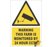 CCTV Farm Monitoring Warning Sign