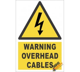 Overhead Cable Warning Sign