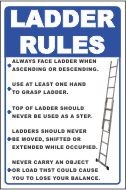Ladder Safety Signs