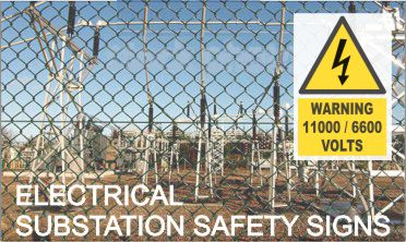 Substation Electrical Hazard Signs